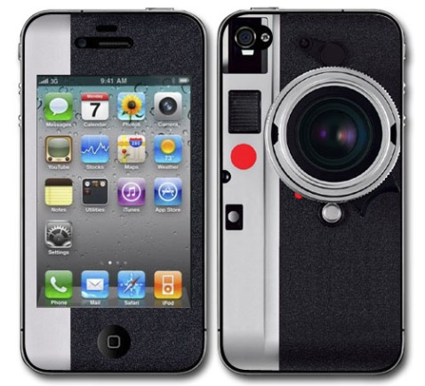 Apple iPhone 4S Leica Style Camera skin cover