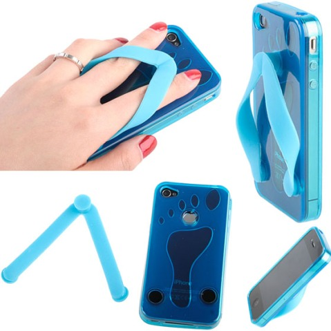 iPhone 4 Slippers Plastic Case03