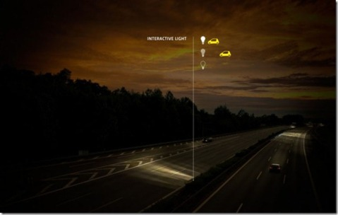 Future technology Concept Smart Highway