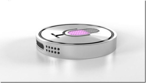 Future technology Concept bracelet with voice assistant Siri